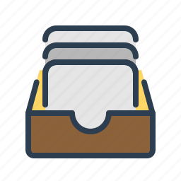 archieve, documentation, documents, drawer, files, folder, page icon