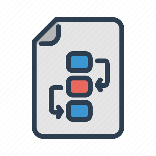 document, file, flowchart, planning, project plan, schedule, strategy icon