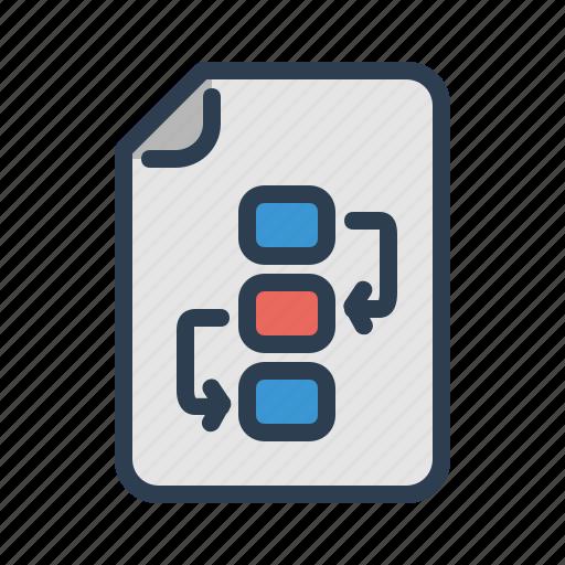 document, file, flowchart, project plan icon