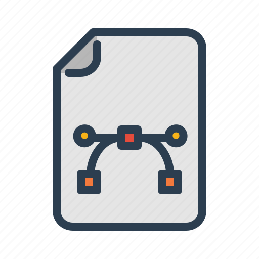 curve, document, file, image, pic, picture, vector art icon