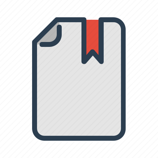 bookmark, document, favourite, file, page, special, top icon