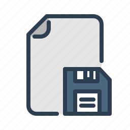 disk, diskette, document, download, file, floppy, guardar, save icon