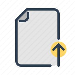 arrow, document, file, share, sharing, up, upload icon