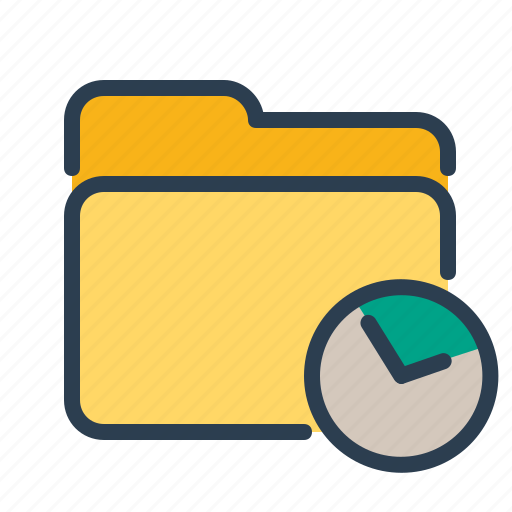clock, documents, folder, history, project management, time, watch icon