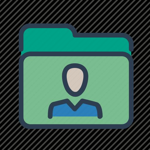 Profile, account, folder, personal icon