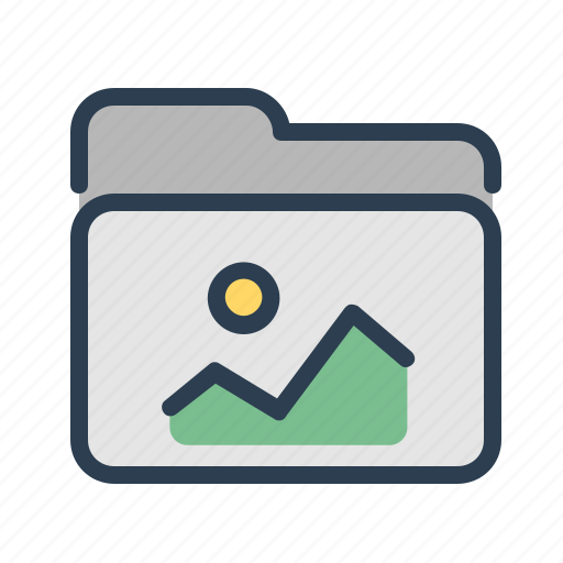 documents, files, folder, images, photo, pics, storage icon