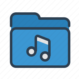 audio, documents, files, folder, music, nota, storage icon