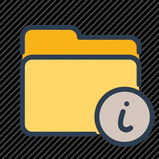 documentation, folder, info, information icon
