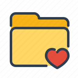 bookmarks, category, documents, favorite, files, folder, heart icon