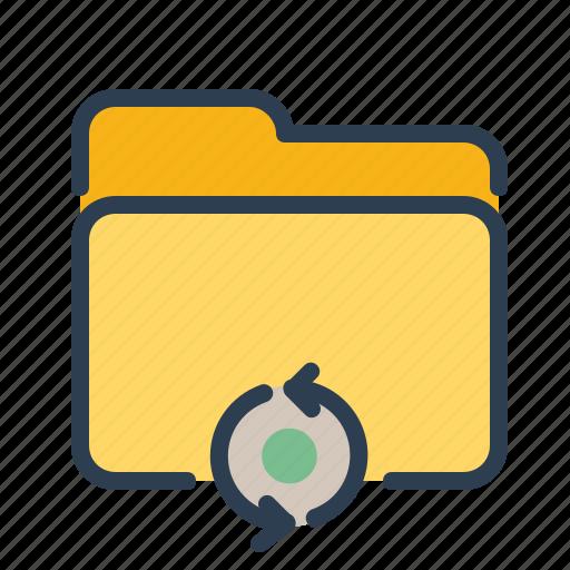 documents, files, folder, refresh, storage, sync, syncronize icon
