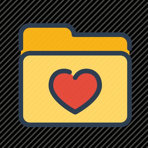 bookmarks, favorite, folder, heart icon