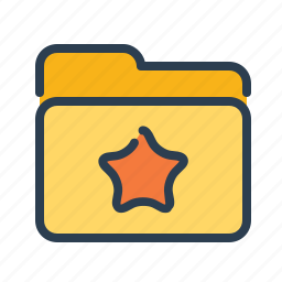bookmark, category, documents, favorite, files, folder, star icon