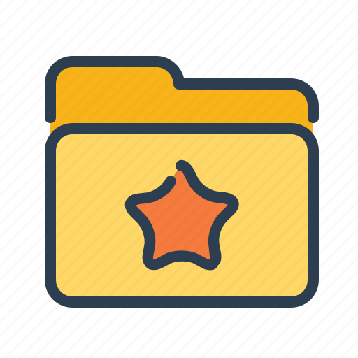 Bookmark, favorite, folder, star icon - Download on Iconfinder