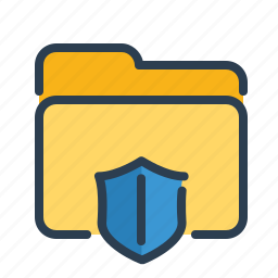 documents, files, folder, protect, safe, shield, storage icon