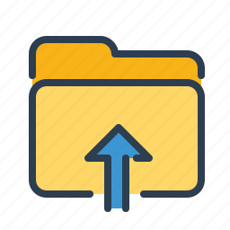 arrow up, documents, files, folder, share, storage, upload icon