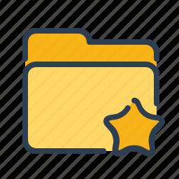bookmark, documents, favourite, files, folder, star, storage icon