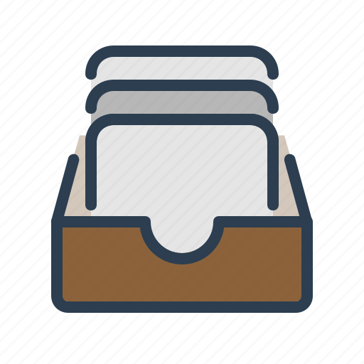 archieve, documents, drawer, files, folder, history, library icon