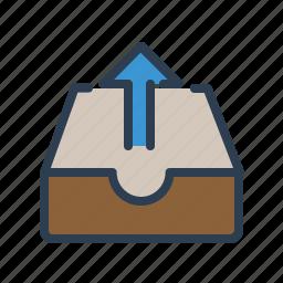 arrow up, documents, files, folder, share, storage, upload icon