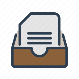 archieve, document, drawer, file, folder, history, library icon