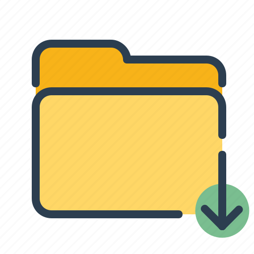 documents, download, files, folder icon