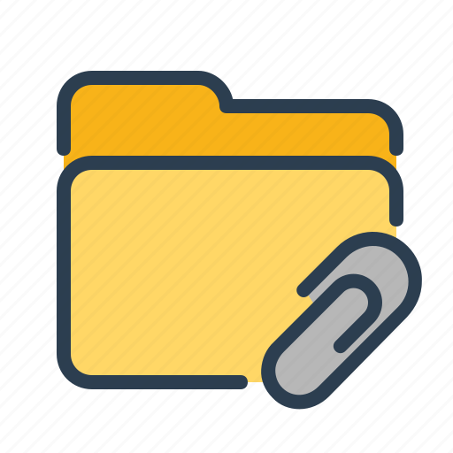 archieve, attachment, documentation, documents, fastener, folder, paper clip icon