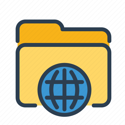 folder, network, shared, world icon