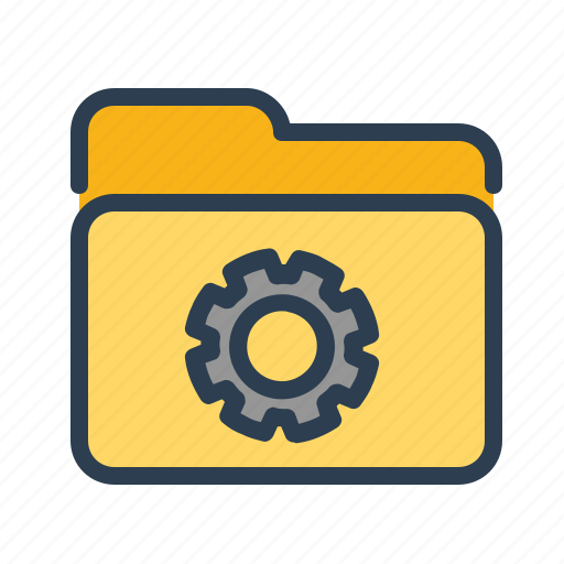 Directory, folder, gear, settings icon - Download on Iconfinder