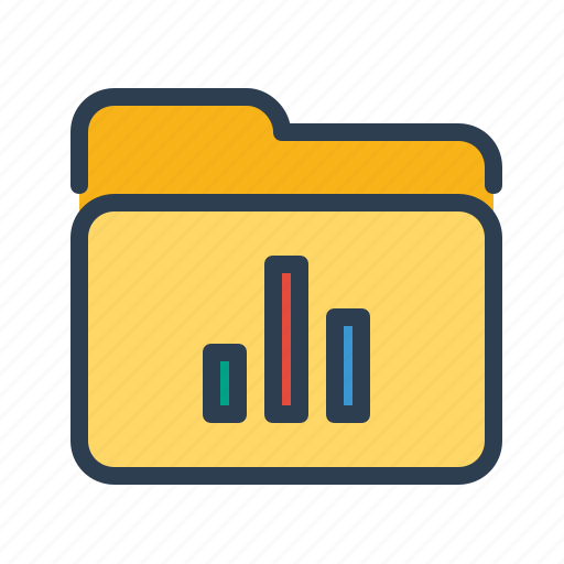 analytics, bar chart, diagram, directory, folder, reports, statistics icon