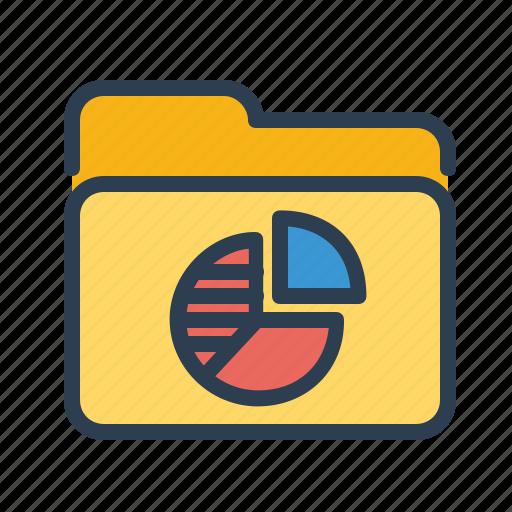 analytics, diagram, documents, folder, pie chart, sales report, statistics icon