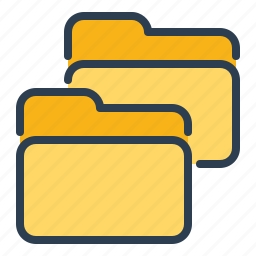 category, copy, directory, documents, duplicate, folder, two folders icon