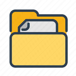 directory, doc, document, file, folder, letter, paper icon