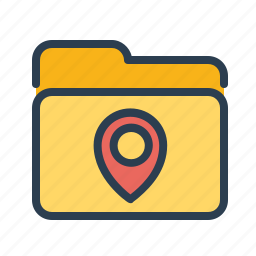 directory, folder, location, map, marker, navigation, pin icon