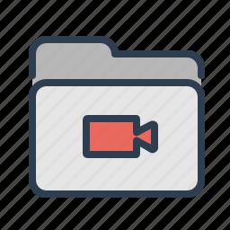 cam, camera, directory, folder, movies, records, video icon