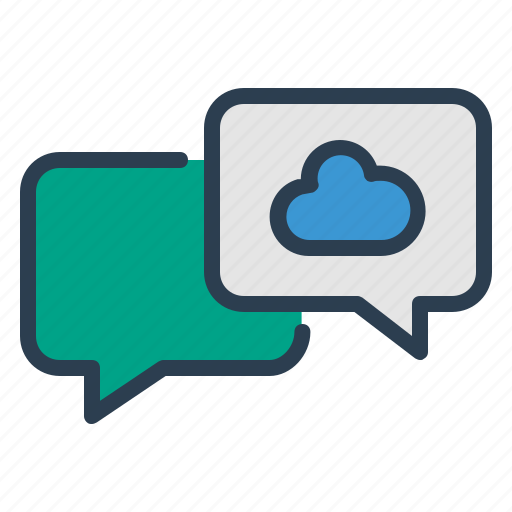 chat, chatting, cloud, comment, message bubble, talk, weather icon