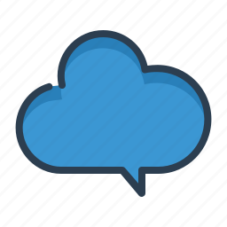 chat, cloud, data, message bubble, share, sharing, storage icon