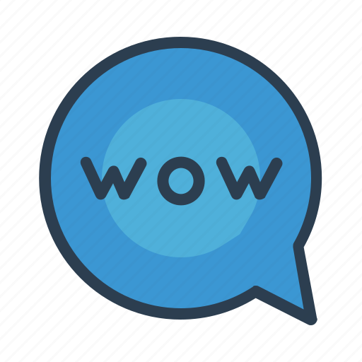 chat, comment, message bubble, wow icon