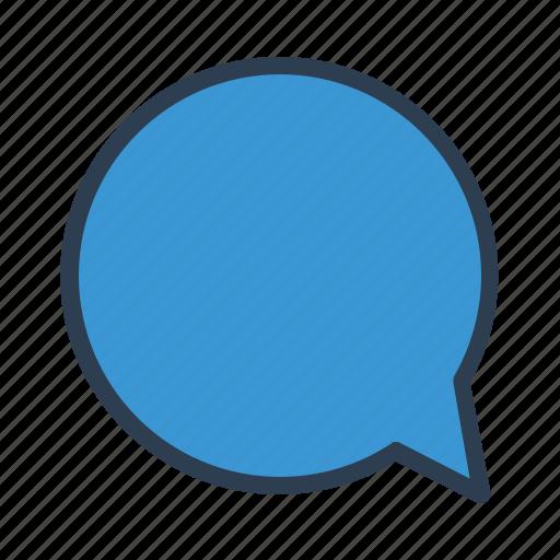 chat, comment, communication, message, message bubble, round, talk icon