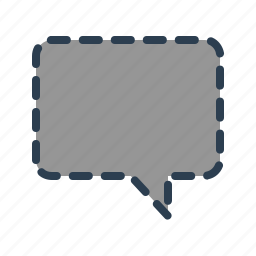 chat, chatting, comment, deleted, hidden, message bubble, missing icon