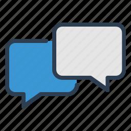 chat, comments, communication, dialogue, message bubble, messages, talk icon