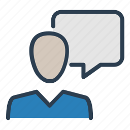 consultant, help, man, message bubble, speech, support, talk icon