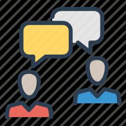 chat, communication, conversation, dialogue, gossip, meeting, message bubbles icon
