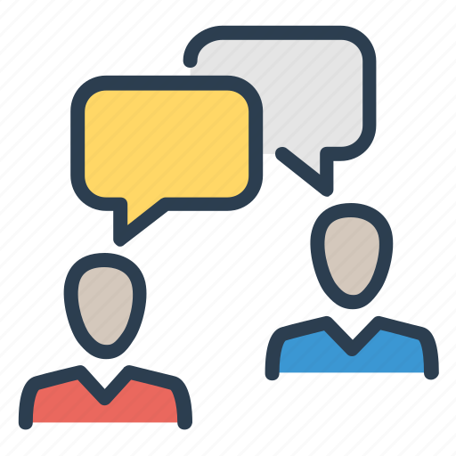 communication, conversation, dialogue, message bubbles icon