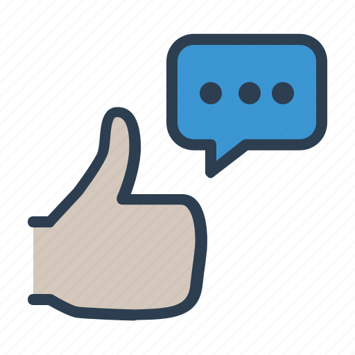 agreement, approve, best choice, comment, feedback, message, thumbs up icon