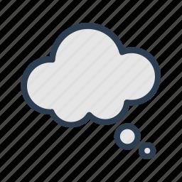 cloud, comment, communication, message, message bubble, talk, thinking icon