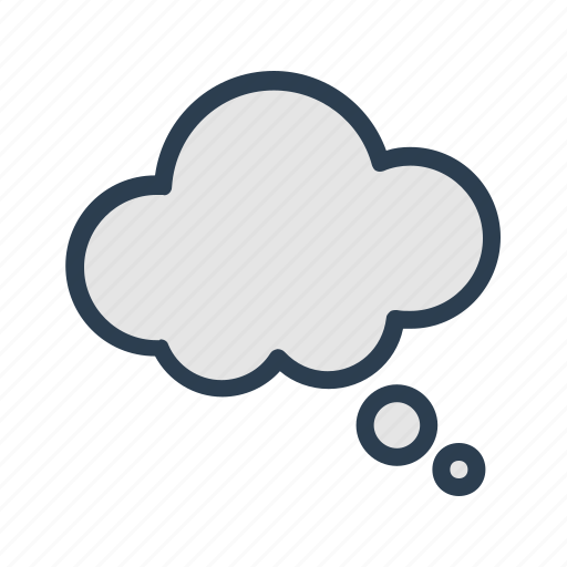 cloud, comment, message bubble, thinking icon