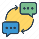 chat, comment, communication, conversation, message bubble, messages, talk icon