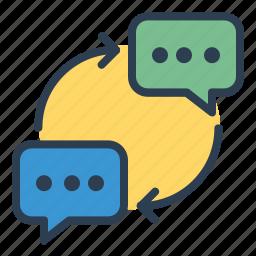 chat, comment, communication, conversation, message bubble, messages, talk icon