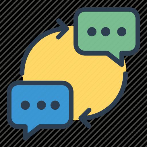 chat, communication, conversation, messages icon