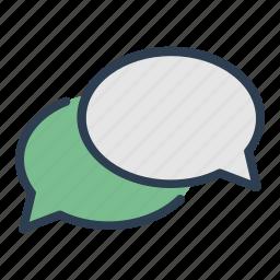 chat, comment, communication, dialogue, message, message bubble, talk icon