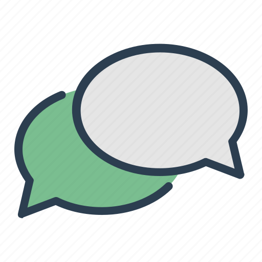 chat, comment, dialogue, message bubble icon